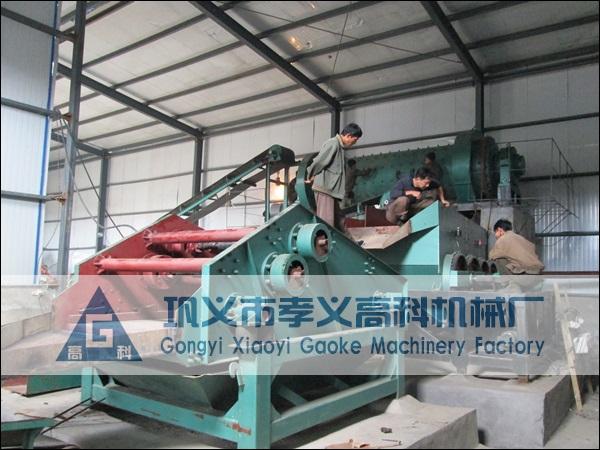 朝鲜萤石矿生产现场