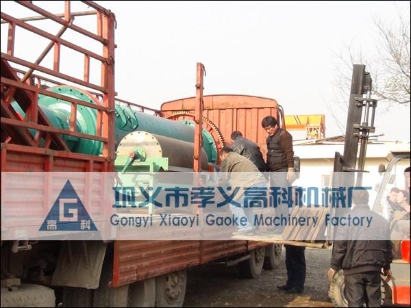 冶炼炉渣设备发往安徽宣城